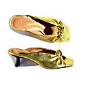 Naples Metallic Gold Kitten Heels image