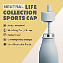500Ml Stormy - Life Collection Stainless Steel Insulated Bottle Sports Cap image