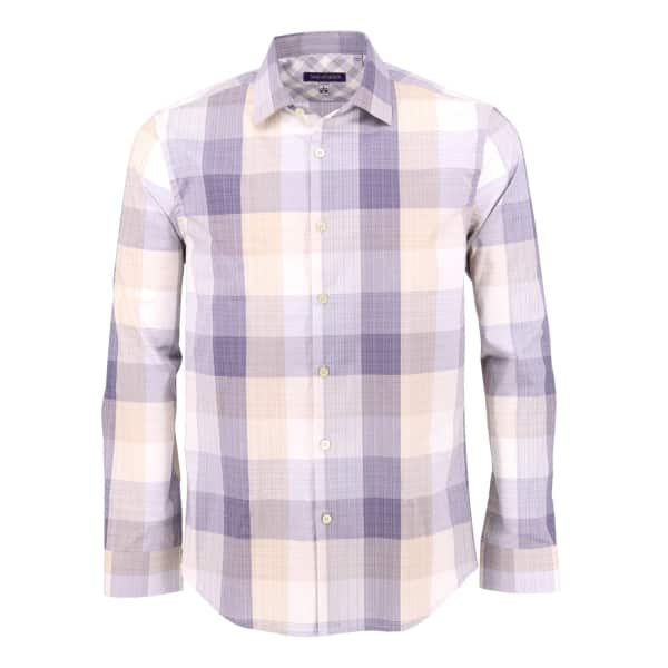 LORDS OF HARLECH Nigel Shirt In Block Natural Plaid