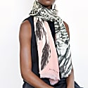 Cashmere Silk Wing Pink Scarf image
