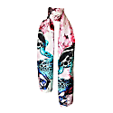 Frogs & Feathers Pink Large Scarf image