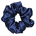 Limited Edition Luxe Pure Silk Hair Scrunchie - French Navy image