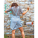 Sustainable Dungaree Dress In Sky Blue image