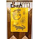 Mustard Crocodile Tea Towel image