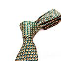 Crowns - Orange - Hand Finished Silk Tie image