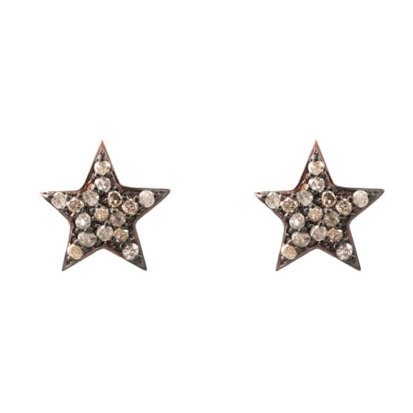 Diamond Star Stud Earring Rosegold