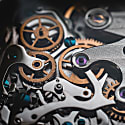 Verne Bi-Compax Rose Gold Grey - Brown Leather image