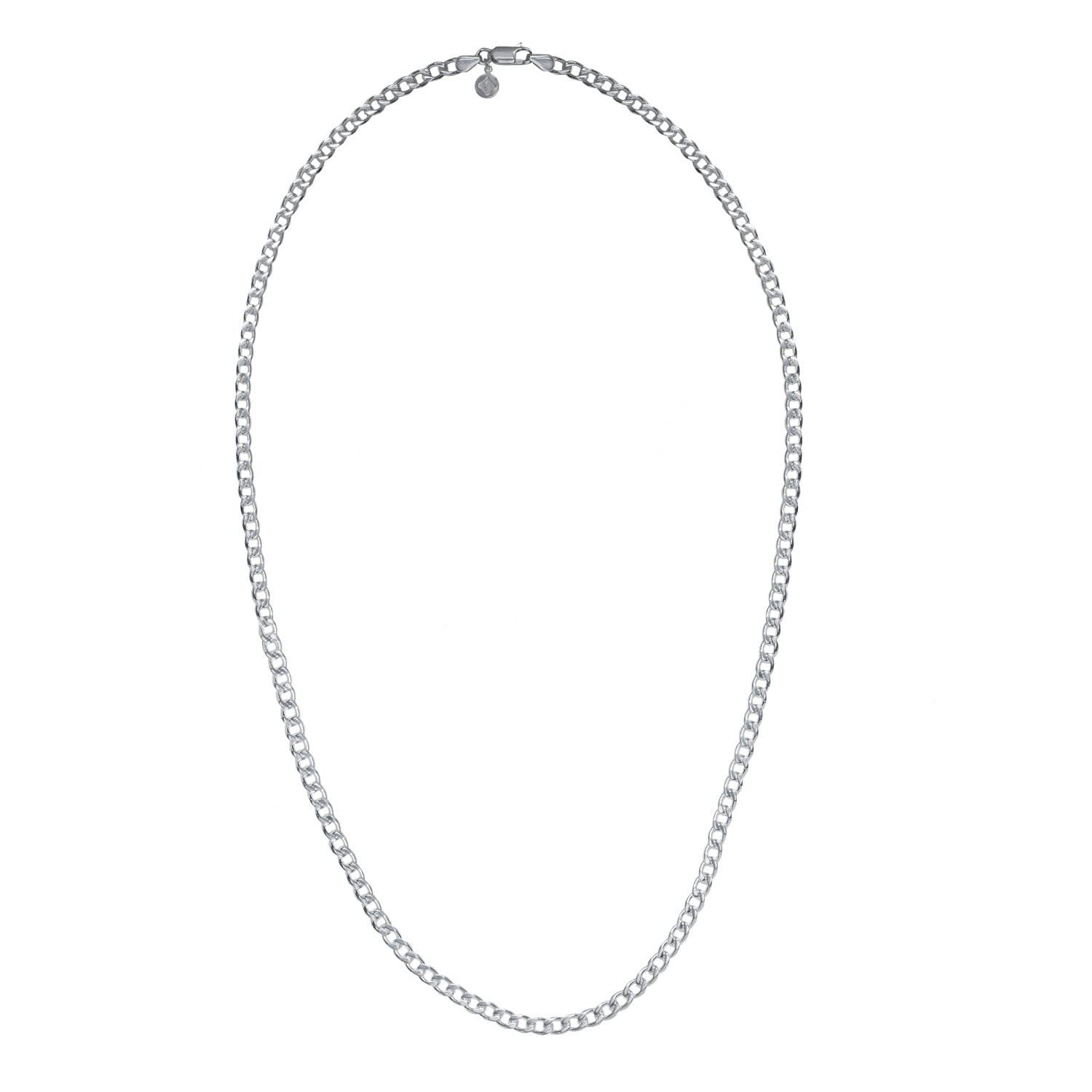 ac17c06593696 Heavy Curb Chain Mens Silver by Edge Only