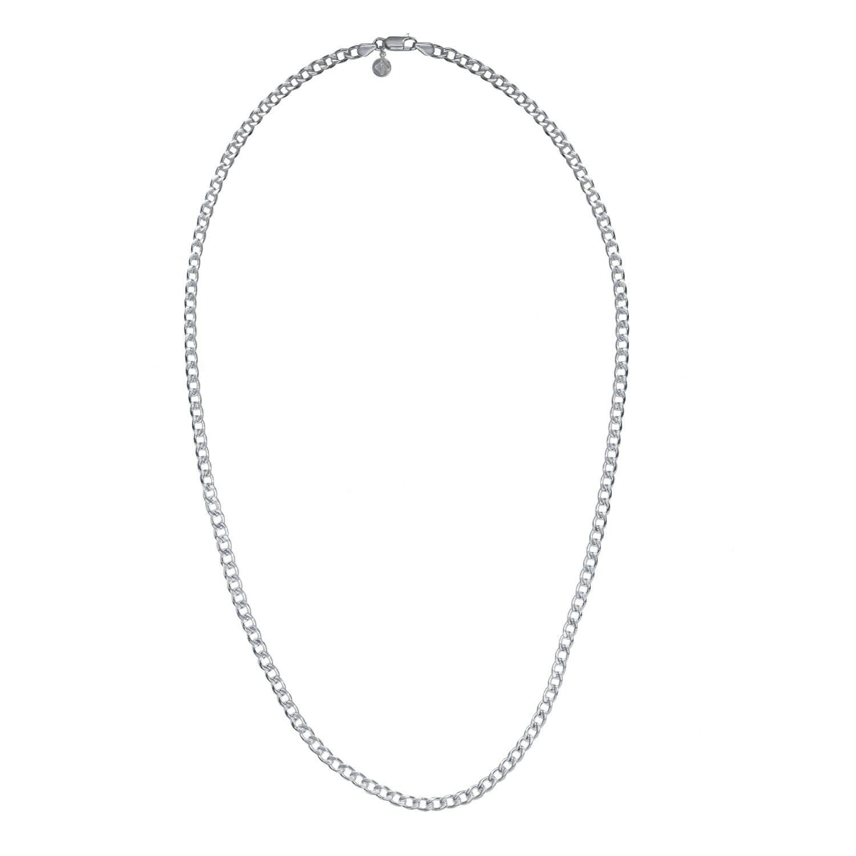cf286658e44e9 Heavy Curb Chain Mens Silver by Edge Only