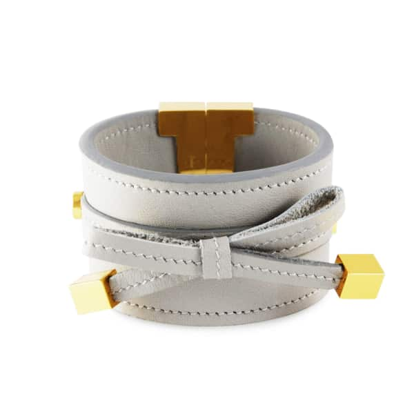 TISSUVILLE Bow & Cube Silver Grey Bracelet Gold