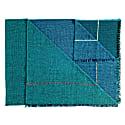 Quaternio Blue 100% Merino Wool Handwoven Throw image