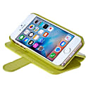 iPhone SE 5 5S Luxury English Leather Phone Wallet with 3 Card Slots in Lemon Lime Green image
