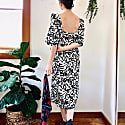 Suzan Milk + Black Brushstroke Cotton image