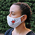 Pack Of 3-Adjustable/Triple Layer Cotton Face Masks With Nose Wire & Embroidery Details-Bird image