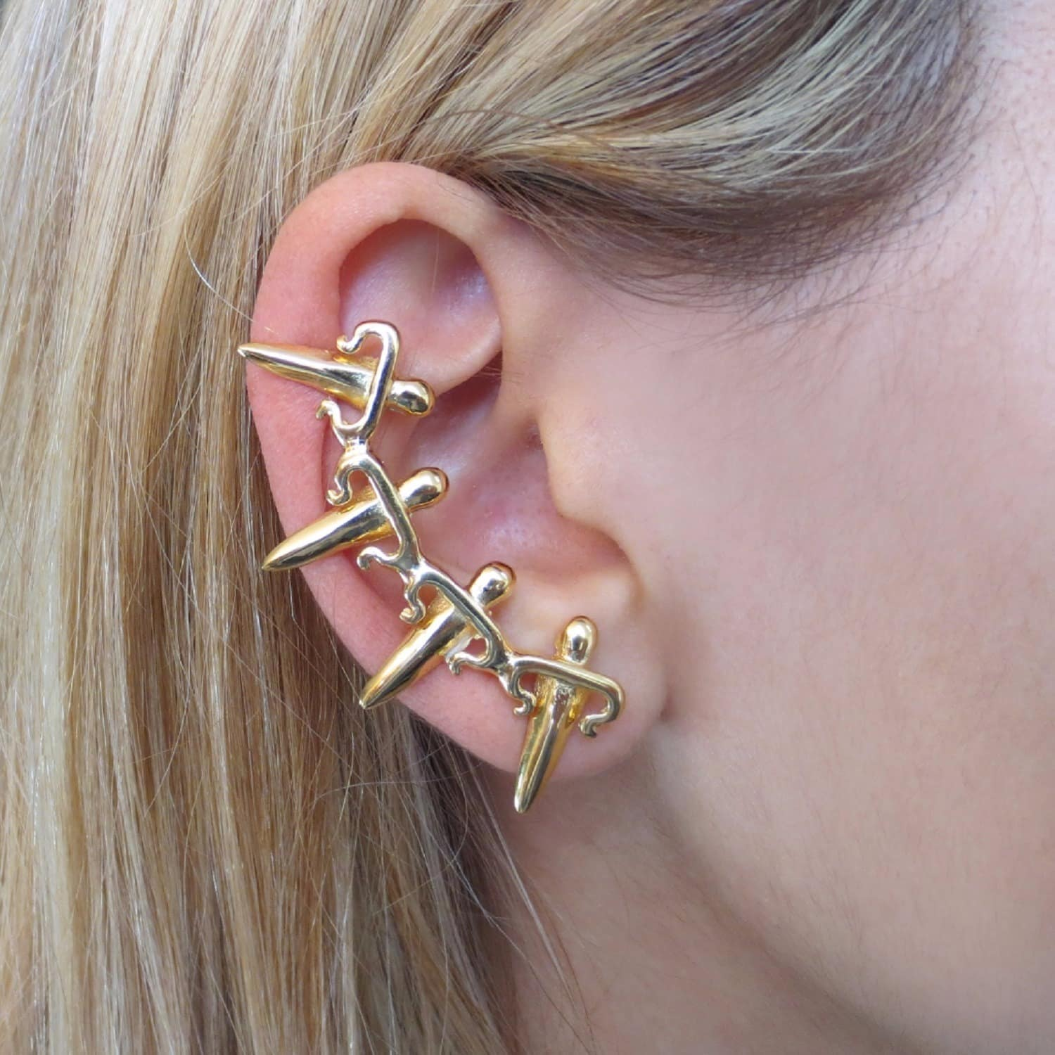 1a6f2acef Dagger Ear Cuff Gold | LEIVANKASH | Wolf & Badger