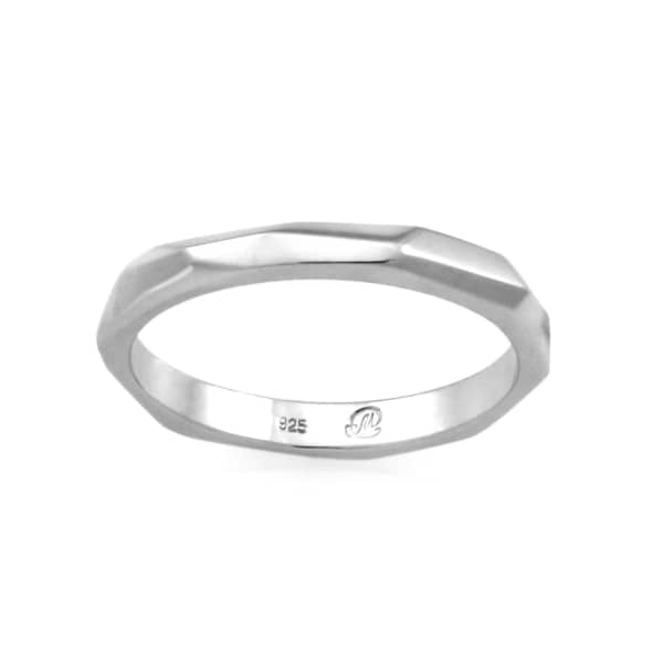 MONARC JEWELLERY The Tempered Band Sterling Silver