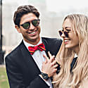Red Striped Mara Self-Tie Bow Tie image