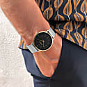 Moderno Stainless Steel Watch - Gold, Black & Silver image