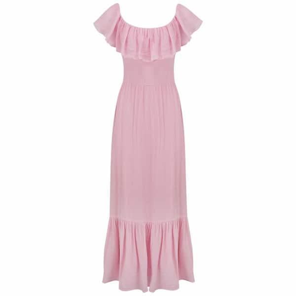 RADISH Gracie Dress in Blush Pink