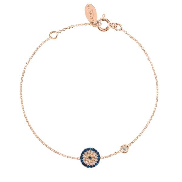 LATELITA LONDON Evil Eye Bracelet Rosegold