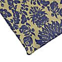 Beige & Blue Vintage Floral Printed Cotton Pocket Square image