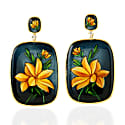 18K Gold Earring With Onyx & Enamel image