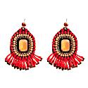 Earrings Shine Like A Star Red & Peach image