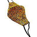 Yellow Leopard Print Face Mask image