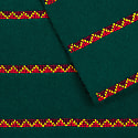 Made By Refugees Hand Embroidered Cashmere Scarf - Triangle Striped Green image