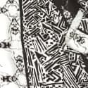 Crazy Bug Black Long Silk Scarf image
