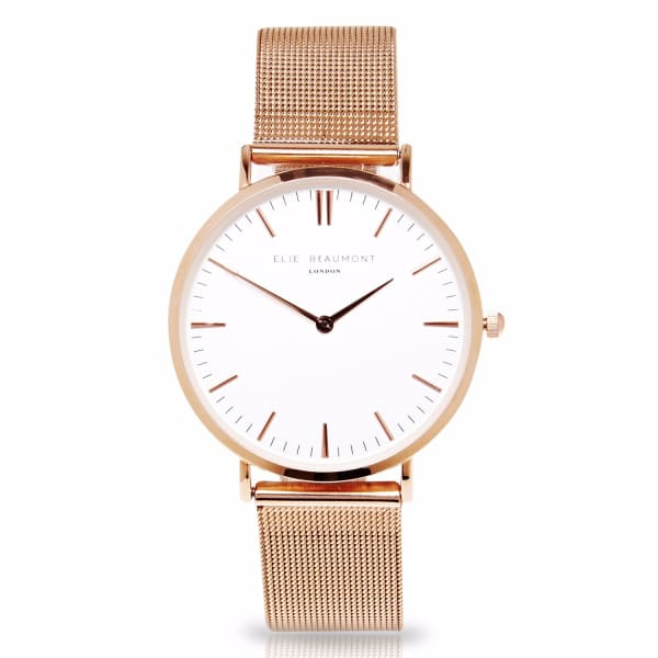 Elie Beaumont Oxford Small Rosegold Mesh
