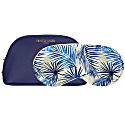 Boxed Blue Palm Eyemask & Navy Cosmetics Case Gift Set image