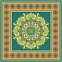 Tree Mandala Square Silk Twill Scarf image