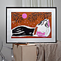 Reclining Girl Under The Trees Screenprint Large image