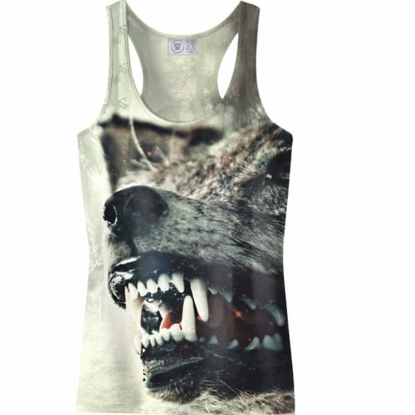 tank top furious aloha from deer wolf badger. Black Bedroom Furniture Sets. Home Design Ideas
