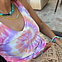 Deia Organic Tie Dye Tank Top Sunset Swirl image