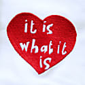 It Is What It Is White Embroidered T-shirt image
