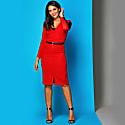 Saliara Dress & Belt Red Lace image
