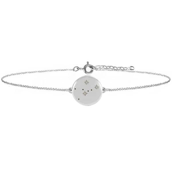 NO 13 Taurus Zodiac Constellation Bracelet Diamonds & Silver