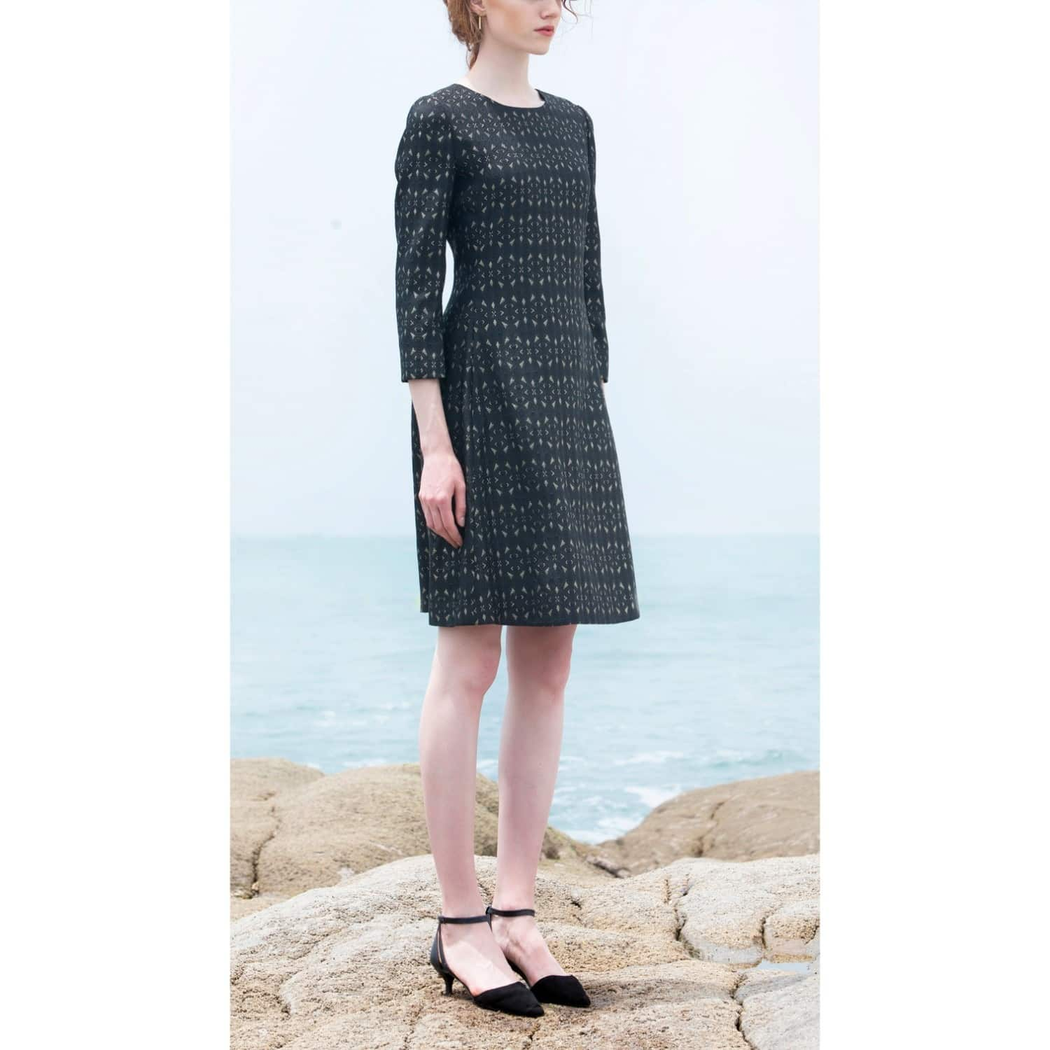 Aria metallic italian jacquard cocktail dress black xllullan aria metallic italian jacquard cocktail dress black image ombrellifo Image collections