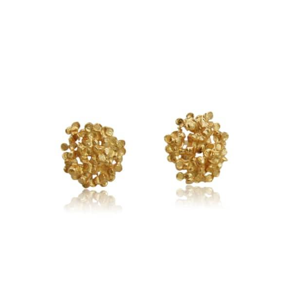 KAROLINA BIK JEWELLERY Amaranth Earrings Gold