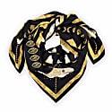 Gold Moth Silk Scarf image