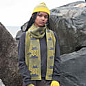 Cloud Busting Lambswool Scarf In Yellow & Grey image