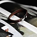 Mens Brown Leather Bracelet With Metal Hook Closure image