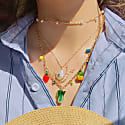 Garden Produce Necklace With Vegetable Charms image