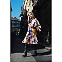 Marta Blurred Flower Print Tie Dress image