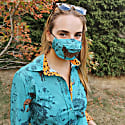 3 Pack Triple Layer Cotton Face Masks With Nose Wire Safari image