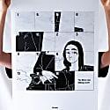 Mona Lisa Sliding Puzzle Black & White Illustrated Art Print image
