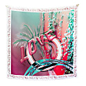 Love Square Silk Scarf Red image