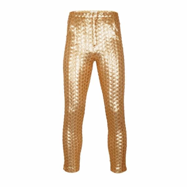 JIRI KALFAR Gold Sequin Trousers